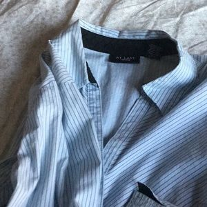 Women's blue and black shirt, size L
